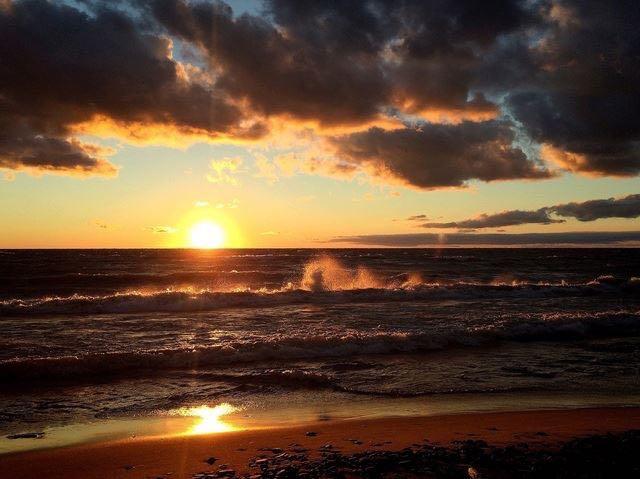 Waves on Lake Erie Beach