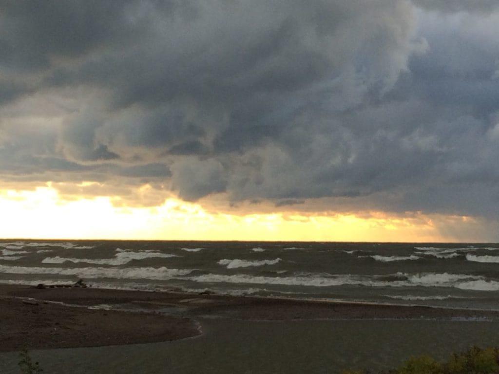 Storm at Lake Erie Beach