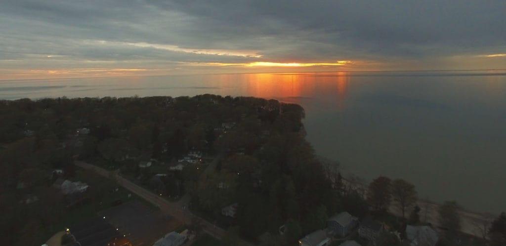 Sunset over Lake Erie Beach