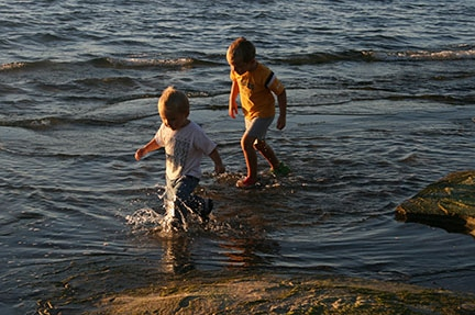 Family fun in the water