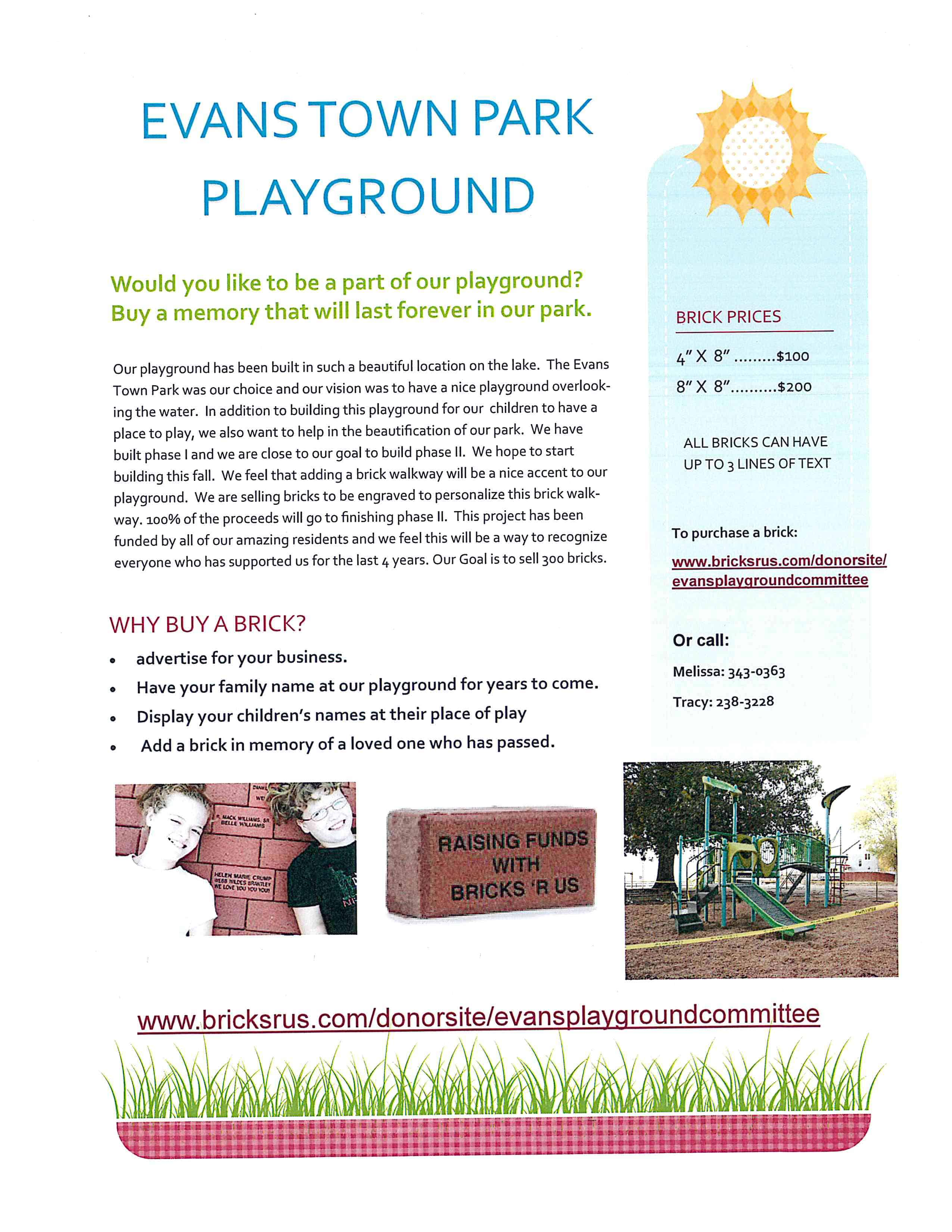 Buy a Brick for the Town Park Playground