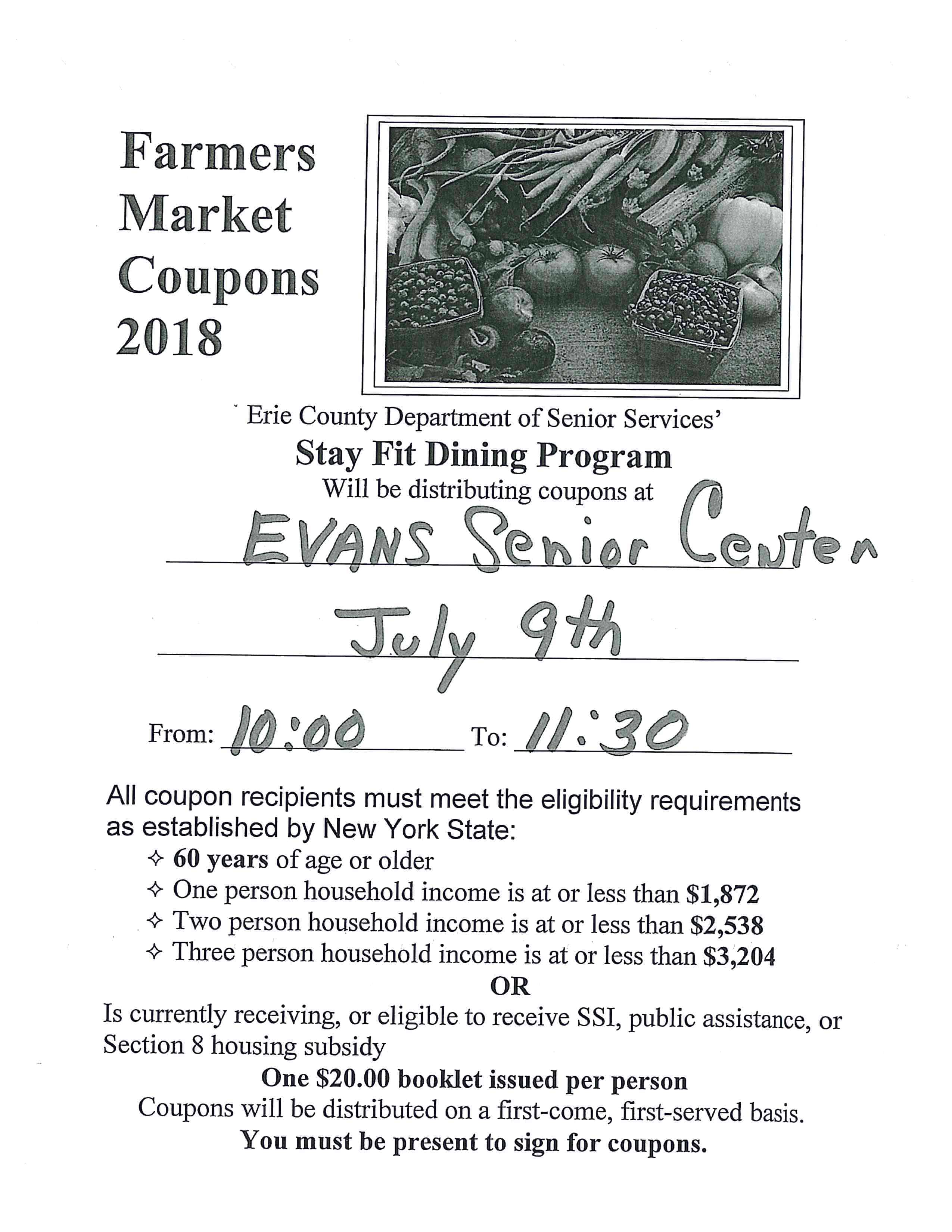 Free Farmers Market Coupons
