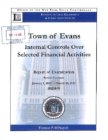 Jan. 1 2007 – March 28 2012 Report of Examination – Internal Controls Over Selected Financial Activities